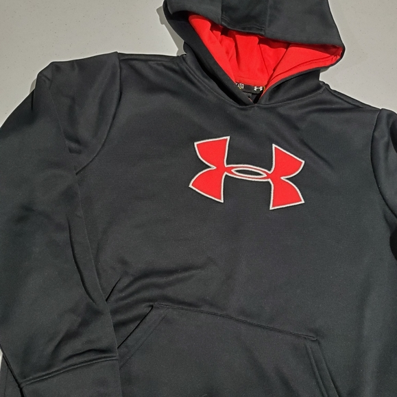 Under Armour Other - Under Armour Boys YXL youth xl red black hoodie